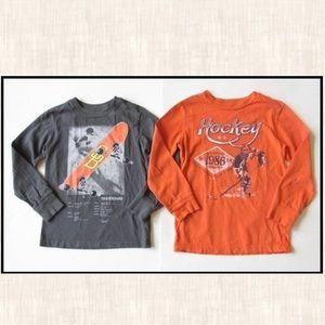 Gap Kids S 6-7 Gray Skateboard Shirt Orange Hockey